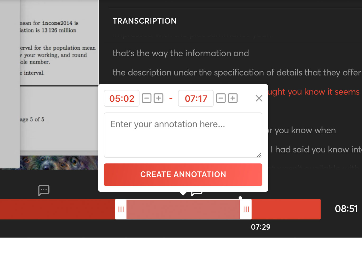 Create video annotations
