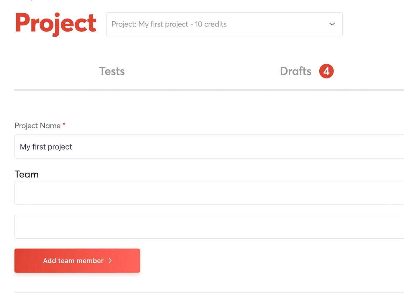 Invite team members into your project